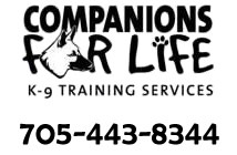Companions for Life K-9 Training Services